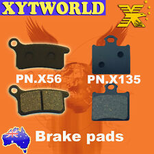 """FRONT REAR Brake Pads for KTM 85 SX 85 (17""""/14"""" wheels) 2011"""