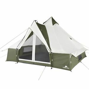 Ozark Trail Hazel Creek 8 Person Lodge Tent, with Covered Entrance