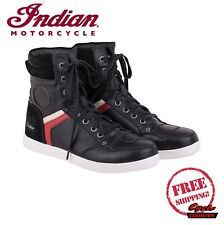 GENUINE INDIAN MOTORCYCLE MEN'S BLACK SNEAKER CE VIBRAM SOLE NEW SCOUT CHIEF