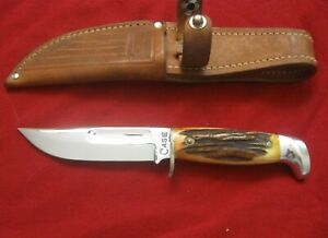 CASE XX 557 STAG 1950's RARE Big C Stamp Unused fixed blade Minty MADE IN USA
