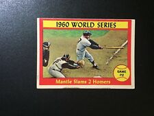 1961 Topps #307 Game #2 - 1960 World Series Mickey Mantle