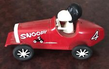 MONOGRAM  SNOOPY AND HIS BUGATTI RACE CAR  ASSEMBLED AND INCOMPLETE 1970