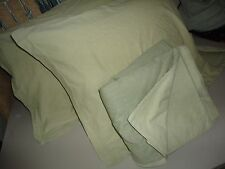 IKEA MALOU TWO TONED GREEN (3PC) QUEEN DUVET & KING PILLOW SHAMS 100% COTTON