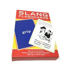 Slang Flashcards by Knock Knock 60 Cards Educational Humor Reference 2003