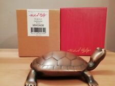 MICHAEL HEALY TURTLE OUTDOOR ART BRONZE BRAND NEW IN SEALED BOX