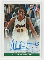 2005 WNBA Autographs #AT Alicia Thompson Seattle Storm Championship Trophy 2004