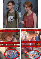 "SOPHIA LILLIS & JAEDEN LIEBERHER signed ""IT"" 8X10 PHOTO D - EXACT PROOF - COA"