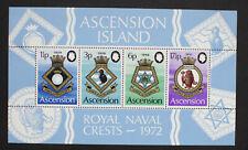 Ascension 1972 Royal Naval Crests MNH - MS SG158