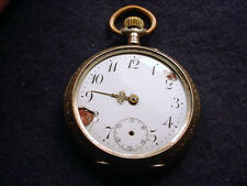 SILVER OPEN FACE SWISS  44MM CYLINDER POCKET WATCH!   #1079