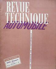 Revue technique OPEL OLYMPIA RTA 80 1952 BOITE WILSON T10 + SOMMAIRE 1952