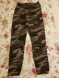 EXPRESS Green CAMOUFLAGE  Leggings  S
