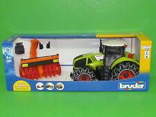 Bruder 03017 Claas Axion 950 mit Schneeketten und Schneefräse Blitzversand DHL