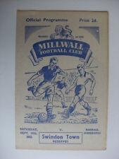 Swindon Town Teams S-Z Reserves Football Programmes