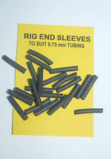 Rig End Sleeves to Suit 0.75mm Tubing Black, average contents 20 - carp coarse