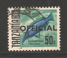 Tanzania #O14 (A4)  VF POSTAL USED - 1973 50c Birdfish - Fish - Official
