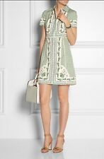 TORY BURCH TALIA BOTANICAL FLORAL PRINT STRETCH POPLIN SHIRTDRESS 12 $450