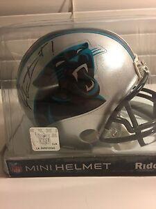 Cam Newton Steve Smith signed mini-helmet