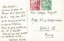 Georges AURIC    Carte autographe signée à Georges HUGNET