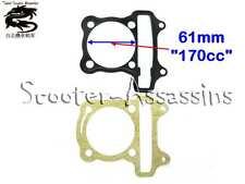 170cc (61mm) HEAD + BASE GASKETS for GY6 152QMJ 157QMI BIG-BORE