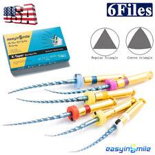 6pc X Pro Blue Taper Endodontic Niti Rotary Tips Dental Endo Files Assorted 25mm
