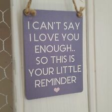 Love & Hearts Vintage/Retro Decorative Indoor Signs/Plaques