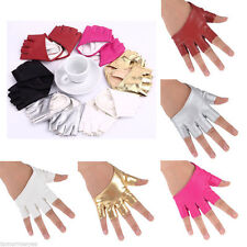 Unbranded Women's Faux Leather Fingerless Gloves & Mittens