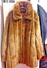 Ladies Dennis Basso Brown Faux Fur Winter Coat Jacket Size S