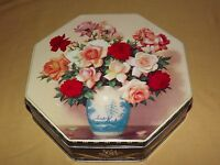 VINTAGE VALLEYBROOK FARMS ROSES FLOWERS TIN