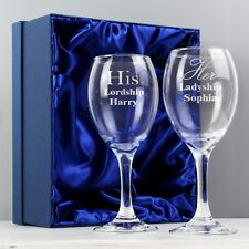 Personalised His & Her Wine Glass Set #1