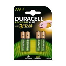 4 x NEW Duracell AAA 750 mAh Rechargeable Batteries for Panasonic Cordless Phone