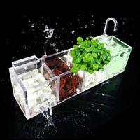 Acrylic Aquarium Fish Tank Bio Media Filter External Hang On Aqua Bowl Clean Box