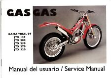 1997 + GasGas JTX Trials handbook Motorcycle bike trials Montesa Sherco Beta
