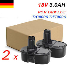 2x Neu AKKU DE9098 Battery für Dewalt Drill 18V 3.0Ah DC9096 DE9095 DC725 DW DC
