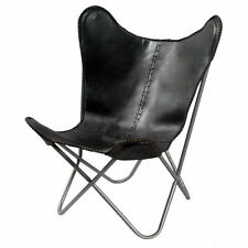 BKF Black Leather Butterfly Arm Chair Leather Armchair Butterfly Chair