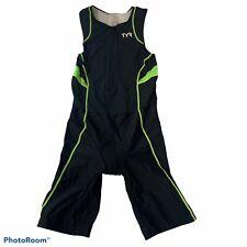 TYR Unisex Size Medium Triathlon Suit Front Zipper Made In USA 2 Back Pockets