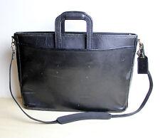Vintage Distressed HARTMANN Messenger Bag Black Leather Shoulder Attache