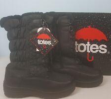 Totes Boots 8M Tie Zip Waterproof Rain Snow Winter Janis Black Retail 89.99 New