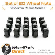 Black Original Style Wheel Nuts (20) 12x1.5 Radius For Honda Civic [Mk8] 06-11