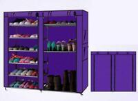 New 6 Tier Shoe Cabinet Rack Storage Organizer Dustproof Cover Shelves Closet