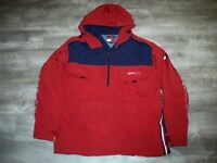 Vtg 90s TOMMY HILFIGER 1/2 Zip Windbreaker Pullover Coat Jacket Men's Size XXL