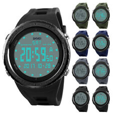 Fashion Men's Digital Sports Watch Glass Large Face Military Waterproof Watches