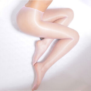 Seamless Pantyhose Stocking Oil Glossy Shiny Sheer Tights Open Close Crotch