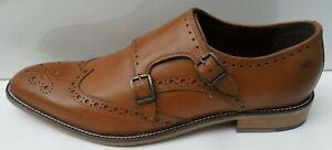 Mens London Brogues New Tan Leather Smart Dress Shoes - Size UK 10 EUR 44