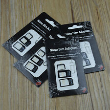 10pcs Nano/Micro to Micro/Standard SIM Card Adapter Tray For iPhone 6 5s 5G 4S 4