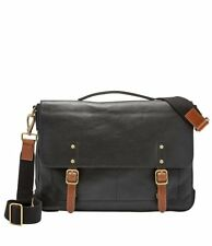 Fossil Defender Leather Laptop Briefcase new nwt black