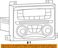 Dodge CHRYSLER OEM 2015 Dart-Stereo Audio Radio Dash Head Unit 68308986ZA