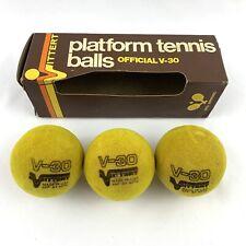 Vintage Vittert Tennis Balls Official V-30 Platform With Original Box Set of 3