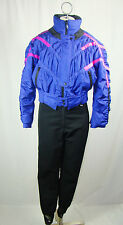 Vintage Obermeyer Purple Black One Piece Ski Suit Snowsuit Women's 8