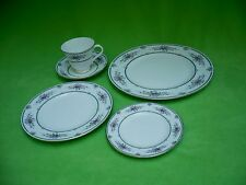 (30 pieces)WEDGWOOD CHARLOTTE pattern.6x 5 pc. Dinner/salad/bread/saucer/cup.Exc