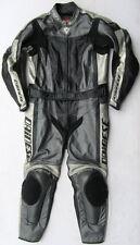 Top DAINESE Flanker Gr. 54 Zweiteiler Lederkombi schwarz grau Leather Suit